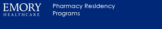Emory Healthcare Pharmacy Residency Program